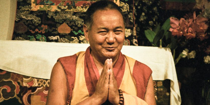 (06616_ng.JPG) Lama Yeshe teaching at Vajrapani Institute, California, 1983. Photos by Carol Royce-Wilder.