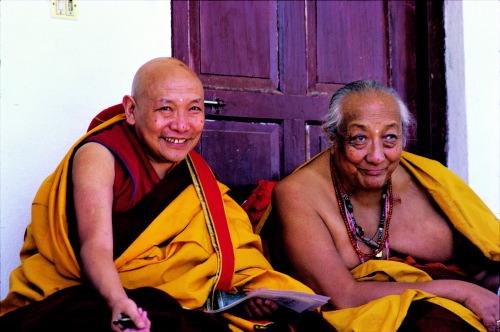 Dilgo Khyentse Rinpoche with Trulshik Rinpoche