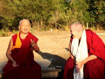 Lama Zopa Rinpoche with Ven. Gyalten Yanchen
